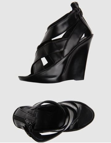 Givenchy criss-cross strappy leather wedges