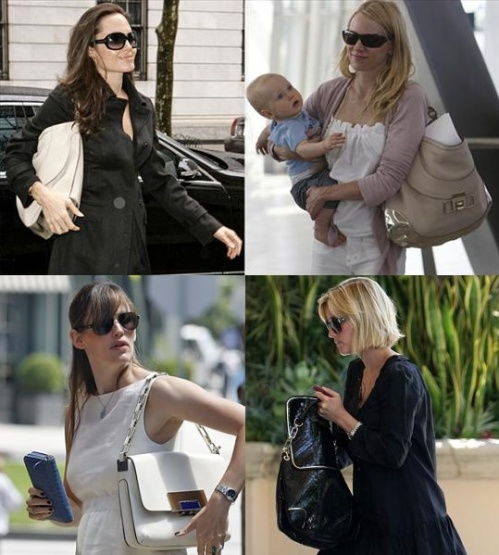 Wearing Anya Hindmarch: Angelina Jolie / Naomi Watts / Jennifer Garner / Reese Witherspoon
