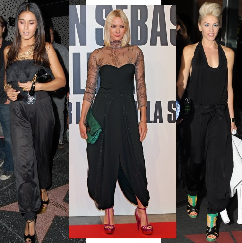 Emmanuelle Chriqui, Naomi Watts & Gwen Stefani in black jumpsuits