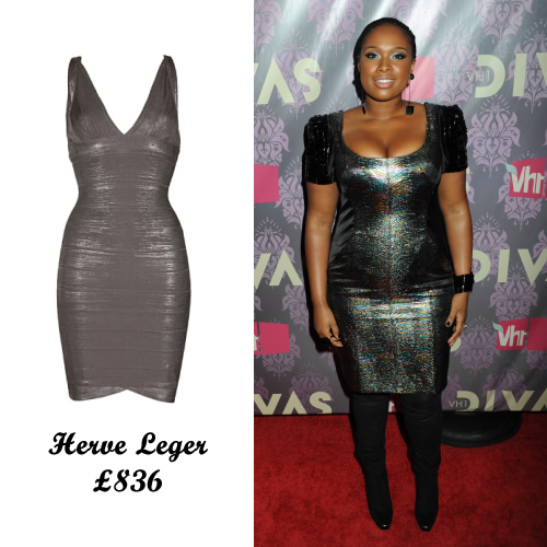 jennifer_hudson_metallic_herve_leger_dress