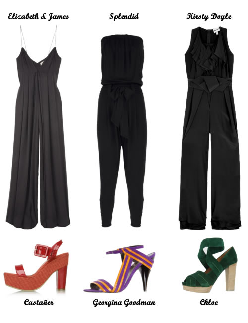 Jumpsuits from Elizabeth & James, Splendid and Kirsty Doyle; Heels from Castaner, Georgina Goodman and Chloe