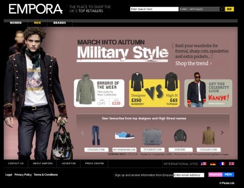 Men's homepage
