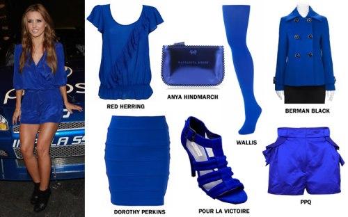 Audrina Patridge wearing electric blue