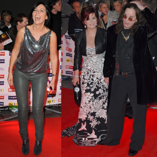 Davina McCall & Sharon and Ozzy Osbourne at the 2009 Pride of Britain Awards