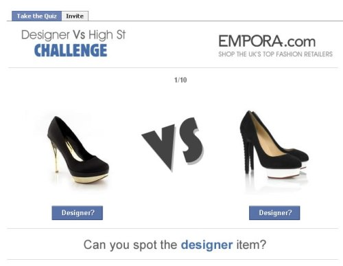 Take our Designer vs High Street challenge now!