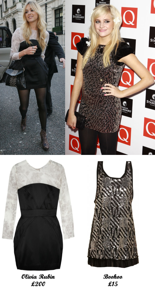 See product details below for these outfits inspired by Fearne Cotton and Pixie Lott