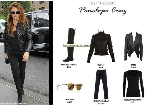 Click here to see how you can recreate Penelope Cruz's city chic vibe