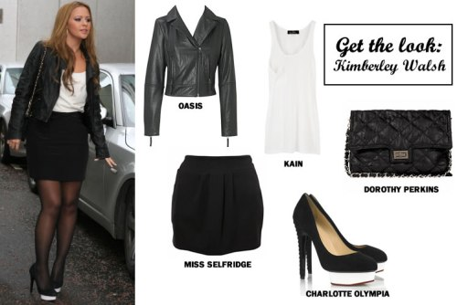 Get her look: Kimberley Walsh's monochrome style