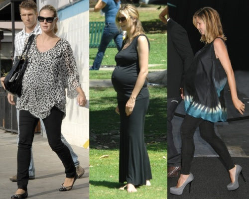 Heidi Klum working maternity chic