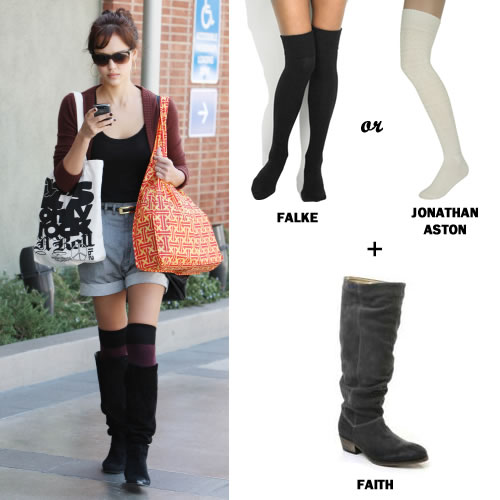 temperament shoes exquisite style skate shoes Get her look: Jessica Alba's socks-n-boots combo | Empora ...