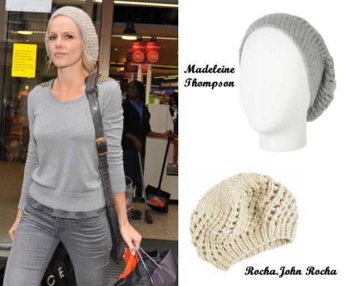 We have a feeling Monet Mazur isn't covering up a bad hair day under her chic slouchy beanie!