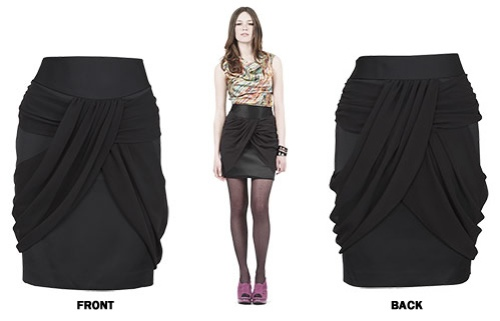 Click here to buy Oasis' drape tulip skirt