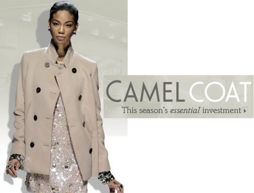 Click here to shop for camel coat styles