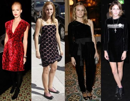 Velvet wearers Jessica Alba, Emma Watson, Diane Kruger and Alexa Chung