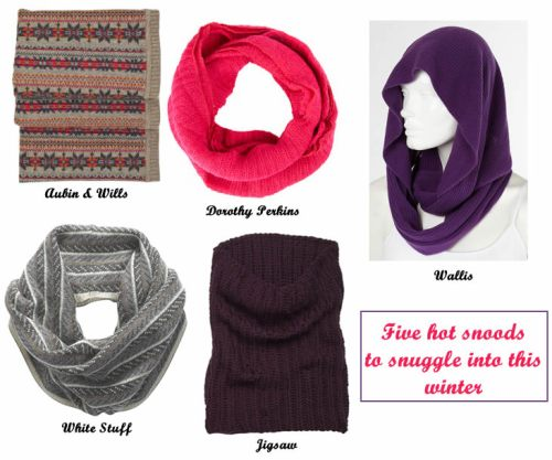 Five hot snoods to snuggle into this winter