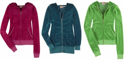 Juicy Couture velour tracksuit tops - with 40% off at TheOutnet