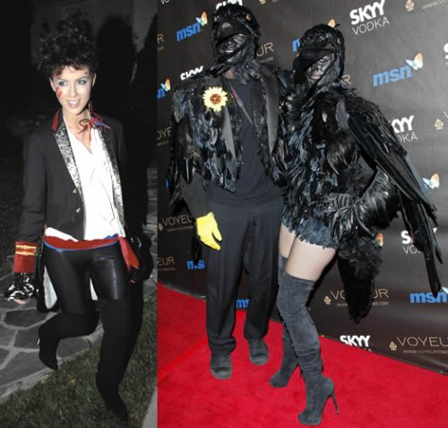 Kate Beckinsale as Adam Ant, Seal and Heidi Klum as black crows