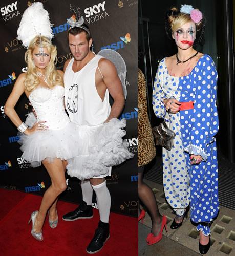 Paris Hilton and boyfriend Doug Reinhardt had very similar outfits; Fearne Cotton as a scary clown