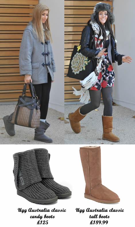 X Factor finalists Stacey Solomon and Lucie Jones are attached to their Ugg boots